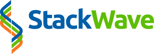 A StackWave logo that is used for our Laboratory Information Management System (LIMS), our Electronic Laboratory Notebook (ELN), our Scientific Data Management System (SDMS), and our custom laboratory software development.