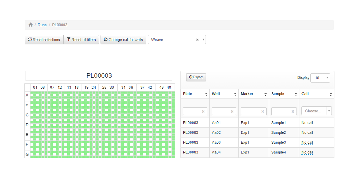 An image that shows the ability to define plate patterns in the StackWave qPCR analysis solution